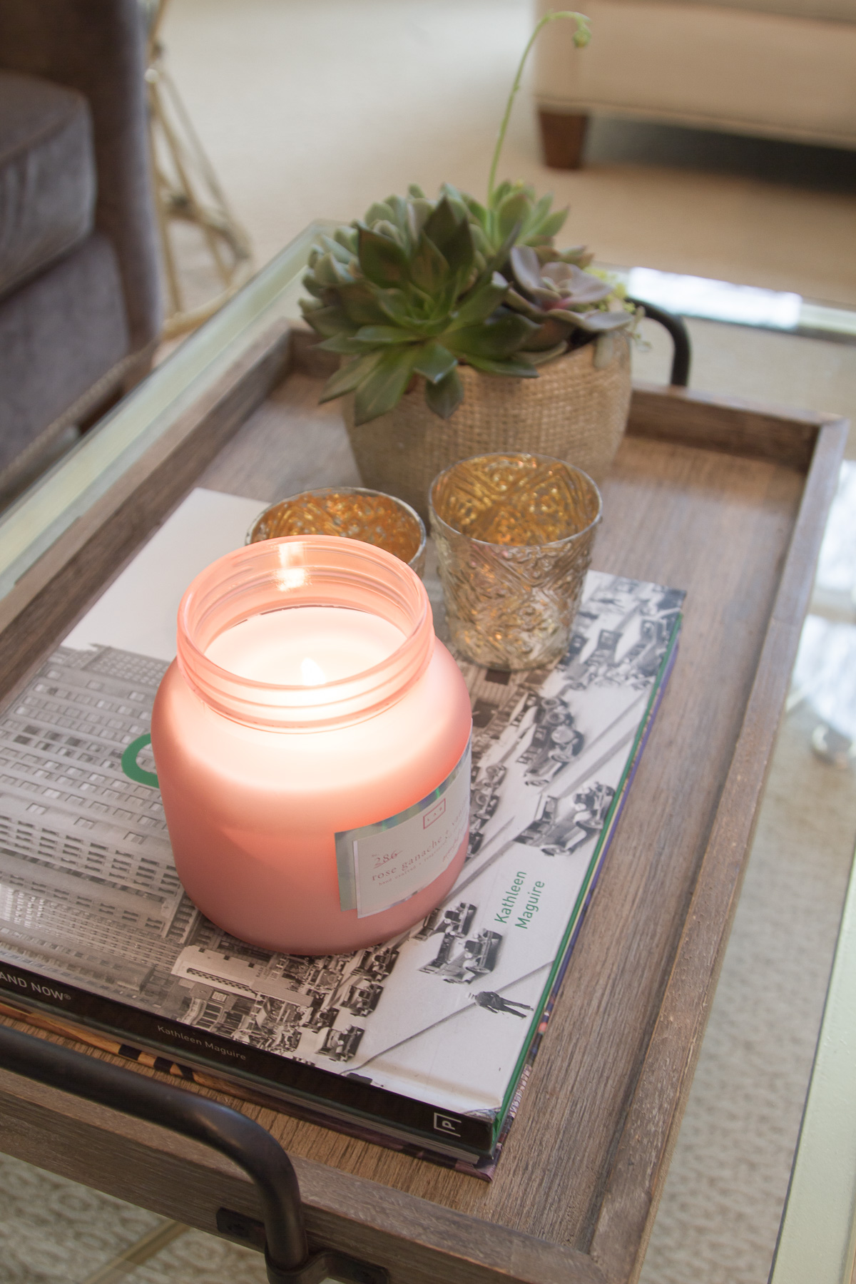 All Things Amber Lifestyle Blog Glass Coffee Table Styling Up